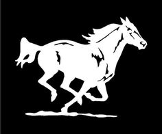 Details About Running Horse Vinyl Decal 6 5 X 11 Colors