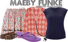 Inspired by Arrested Development character Maeby Funke played by Alia Shawkat Alia Shawkat, Spirit Weeks, Attitude, Watch, My Style, Polyvore, How To Wear, Clothes, Collection