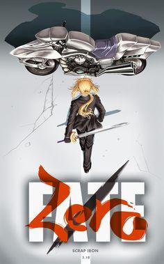 re 287911 akira_(manga) fate_stay_night fate_zero feitie parody saber sword. Fate Zero, Cyberpunk, Akira Poster, Zero Wallpaper, Akira Anime, Character Art, Character Design, Arturia Pendragon, Custom Choppers