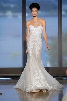 Girl, that dress looks good on you! #inesdisanto #weddinggown #couture