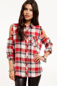 Jack Plaid Button Up Shirt $58 at www.tobi.com
