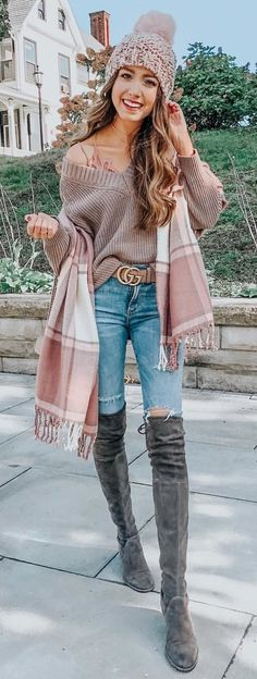 45 Popular Fall Outfits Ideal For You Casual Winter Outfits, Winter Fashion Outfits, Trendy Outfits, Fall Outfits, Cute Outfits, Sweater Fashion, Casual Shoes, Fall Fashion Trends, Autumn Fashion