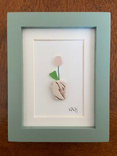 Spring Flowers Sea Glass Art - 2x3 Framed