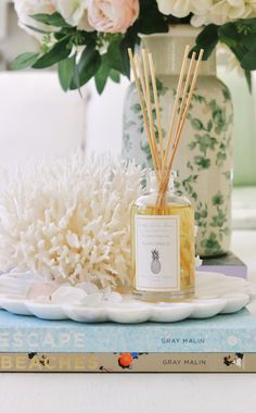 My Summer Diffuser is now available for purchase | Kristy Wicks Home is now live! 100% of the profits of this diffuser is going to charity - so excited! Beach Vacation Spots, Summer Scent, Jumping For Joy, Fragrance Oil, Vignettes, Breeze, Diffuser, How To Memorize Things, Candles