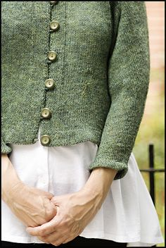 EZ's Green Sweater on Brooklyn Tweed blog.  I love this sweater pattern.