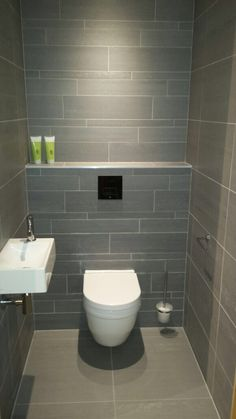 Mooi toilet antraciet mimi huis pinterest toilet and - Deco toilet grijs ...