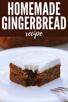 Gingerbread is such a classic holiday flavor and it makes the house smell amazing! I love this time of year and this recipe swaps in a few healthy ingredients so you can still indulge in the best holiday treats with your family! This Homemade Gingerbread Recipe has the same deeply rich flavor as traditional gingerbread laden with eggs and butter and sugar. Yet this is probably the healthiest gingerbread recipe you'll ever eat!