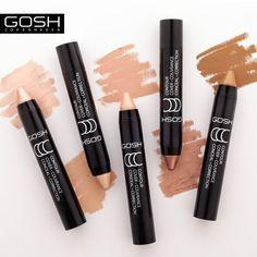 CCC Sticks to wielofunkcyjne kosmetyki dostępne w wersji matowej jako korektor oraz błyszczącej jako rozświetlacz. Który z nich wybieracie? ☺ #goshpolska #uroda #efektGOSH #kosmetyki #cccsticks #korektor #rozswietlacz #wizaz #beauty #konturowanie