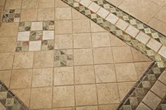 ceramic tile rug | ... durable focal point to a high-traffic area with a ceramic tile inlay