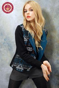 Women's Pop Art Jacquard Blazer Jacket