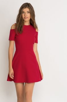 Mini-sukienka z wycięciami na ramionach