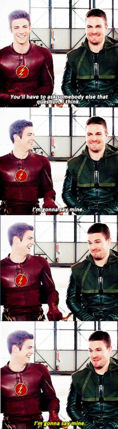 Arrow / The Flash - Whose costume is sexier? Stephen's face though lol