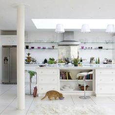 White modern kitchen   Modern kitchen extensions - our pick of the best   Kitchen extensions   Livingetc   PHOTO GALLERY