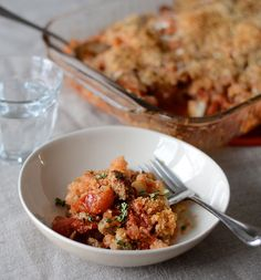 Cauliflower Sausage Casserole.  This is my current favorite week night recipe.  It's relatively easy, tastes great, and I always have enough for leftovers.  I generally leave out the bread crumbs, or add some ground almond.
