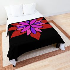 """Lotus Star Design"" Comforter by Pultzar 