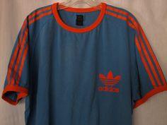Men's Adidas Trefoil 3 Stripe Ringer Tee XL Vintage by SoSylvie