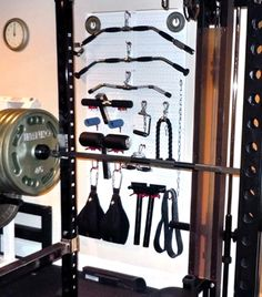 Wall Control's heavy-duty metal pegboard is great for organizing gym and weight lifting equipment so that everything is right where you need it when you need it. If you're tired of digging through baskets and drawers for the attachments you need, get some Wall Control metal pegboard and hang it all up for easy access! Another great customer submission from one of our wonderful customers, thanks!