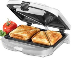 These make the best pizza and Reuben grilled sandwiches. Cuisinart Wm-SW2 Sandwich Grill, Brushed Chrome #affiliate #ad