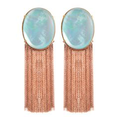 1stdibs | Rose Gold Earrings with Turquoise - Clear Blue Skies