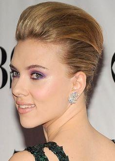 50 Best Updos for Short Hair   herinterest.com  Scarlett Johansson Short Updo: Perfect bouffant