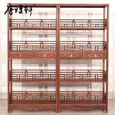 Pas cher Tang Huang Xuan meubles en acajou birmanie parfumée poire classique chinoise antique étagère en bois bibliothèque étagères, Acheter  Lits de qualité directement des fournisseurs de Chine:    Les images des produits sont prises en nature, mais en raison de facteurs techniques de prise de vue, lumière, affic