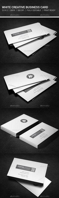 White Creative Business Card  #template #creative #business