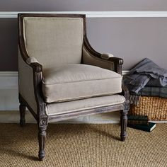 Henri epitomises timeless elegance, and is one of those pieces of furniture which will just fit in practically anywhere.The generously sized Henri armchair will command attention in any room. This handsome piece is made from sustainably sourced mango wood and features detailed carving and is finished in natural coloured linen upholstery. It is both practical and hardwearing, the regal Henri will stand the test of time and design.Mango wood, uplhostered in natural coloured linenDepth: 65cm x…