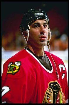 former NHL player Chris Chelios Chicago Blackhawks Captain Blackhawks Jerseys, Hockey Teams, Hockey Players, Hockey Stuff, Sports Teams, Chris Chelios, Chicago Hockey, Chicago Blackhawks, Hockey Baby