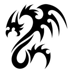 Dragon vector illustration design, for tattoo designs and other designs. easy to use and Tribal Armband Tattoo, Tribal Dragon Tattoos, Dragon Tattoo Designs, Tribal Tattoo Designs, Tattoo Designs For Girls, Best Tattoo Designs, Dragon Tattoo Stencil, Tattoo Stencils, Japanese Dragon Tattoo Meaning