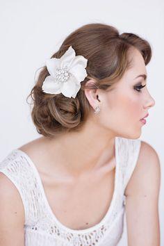 Kara Bridal Headpiece by PerleBridalJewellery on Etsy