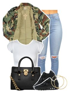 """No flex zone ."" by perfectlyy-imperfect ❤ liked on Polyvore featuring Carhartt, Michael Kors, NIKE, H&M and ASOS"