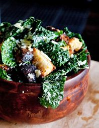 Kale Caesar Salad: The hearty greens will stand up to the bold dressing!