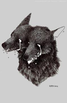 New Ideas For Dark Art Tattoo Ideas Wolves Dessin Old School, Dark Art Tattoo, Tattoo Art, Storyboard, Art Et Design, Illustrations, Illustration Art, Werewolf, Art Inspo