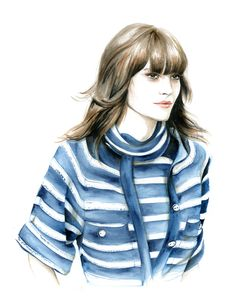Chanel summer 2015 with Catherine McNeil Do you like my tight sweater ? - Caroline Andrieu