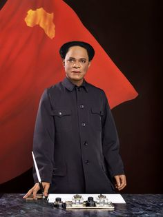 Samuel Fosso, Self-Portrait as Mao Zedong, from the series Emperor of Africa, Courtesy Jean Marc Patras, Paris African Culture, African History, Chinese Propaganda Posters, Institutional Critique, Aperture Foundation, Appropriation Art, Contemporary African Art, Internet Art, New Media Art