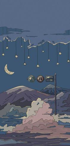 Aesthetic Desktop Wallpaper, Soft Wallpaper, Anime Scenery Wallpaper, Landscape Wallpaper, Cute Anime Wallpaper, Cute Wallpaper Backgrounds, Wallpaper Iphone Cute, Pretty Wallpapers, Cartoon Wallpaper