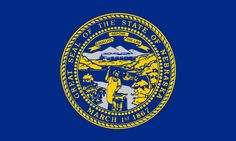 A banner for the State of Nebraska shall consist of a reproduction of the great seal of the state, charged on the center in gold and silver on a field of national blue.