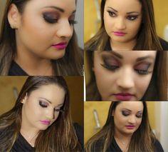 O Beauty Team da NYX Manauara fez uma maquiagem explorando essa cor com Matte Lipstick Shocking Pink, Single Eye Shadokw Hot Pink e cílios Postiços Precious