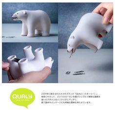 【라쿠텐 시장】 (내일 락) 곰 북극 곰 테이프 클립 홀더 [QUALY / 쿠오리] Bear Tape Dispenser 인테리어 테이프 커터 클립 홀더 인기 선물 재미있는 문구 마스킹 테이프 小巻 좋아 귀여운 멋쟁이 문구 북극곰 / WakuWaku : WakuWaku