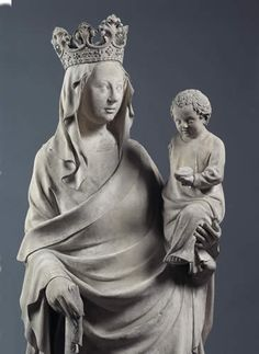 Virgin and Child, attributed to André Beauneveu, Private Collection