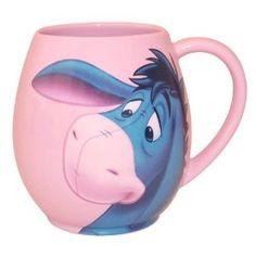 Eeyore Mug this. Eeyore & pink, two of my favorite things! Disney Coffee Mugs, Disney Mugs, Cute Coffee Mugs, Cool Mugs, I Love Coffee, Coffee Cups, Winnie The Pooh Mug, Winnie The Pooh Friends, Pooh Bear