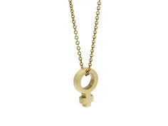 The solid gold Venus Symbol on a fine gold chain. Venus is our morning and evening star and the keeper of strong women everywhere.