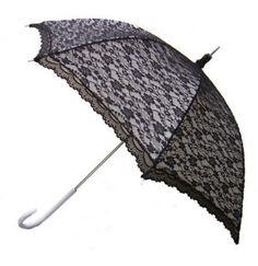 Paraplu modern Victoriaans Zwart wit