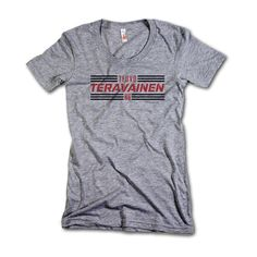 Teuvo Teravainen NHLPA Officially Licensed Chicago Womens Scoop Neck S-XL Teuvo Teravainen Striped Black Font