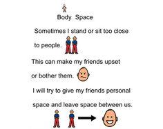 Boardmaker Achieve:  Personal space social story