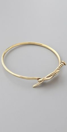 A.L.C. Knotted Nail Bangle- I know who will be repinning this!! Miss Nicole...;)