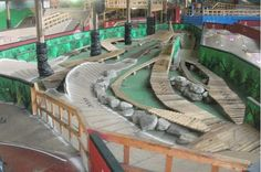 Ray's Indoor Mountain Bike Park -- I want to go for a lap or two here! E Mtb, Mtb Bike, Cycling Bikes, Mtb Trails, Mountain Bike Trails, Bike Parking, Trail Riding, The Ranch, Cool Bikes
