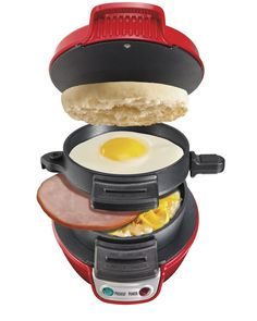 Hamilton Beach Electric Breakfast Sandwich Maker - Silver: Amazon.co.uk: Kitchen & Home