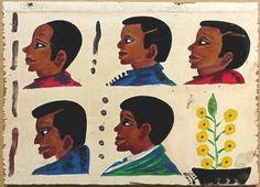 African barber shop sign : Lot 505