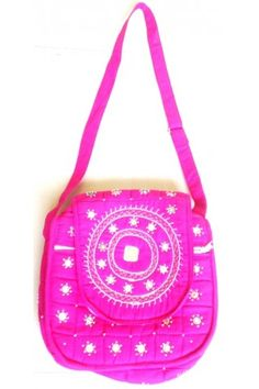 Ethnic Bag - Mirror Worked Hand Crafted Pink
